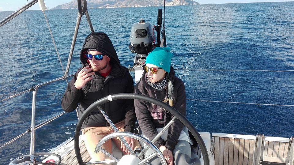 kapitany na trasie z Milos do Ios Sylwester Cyklady