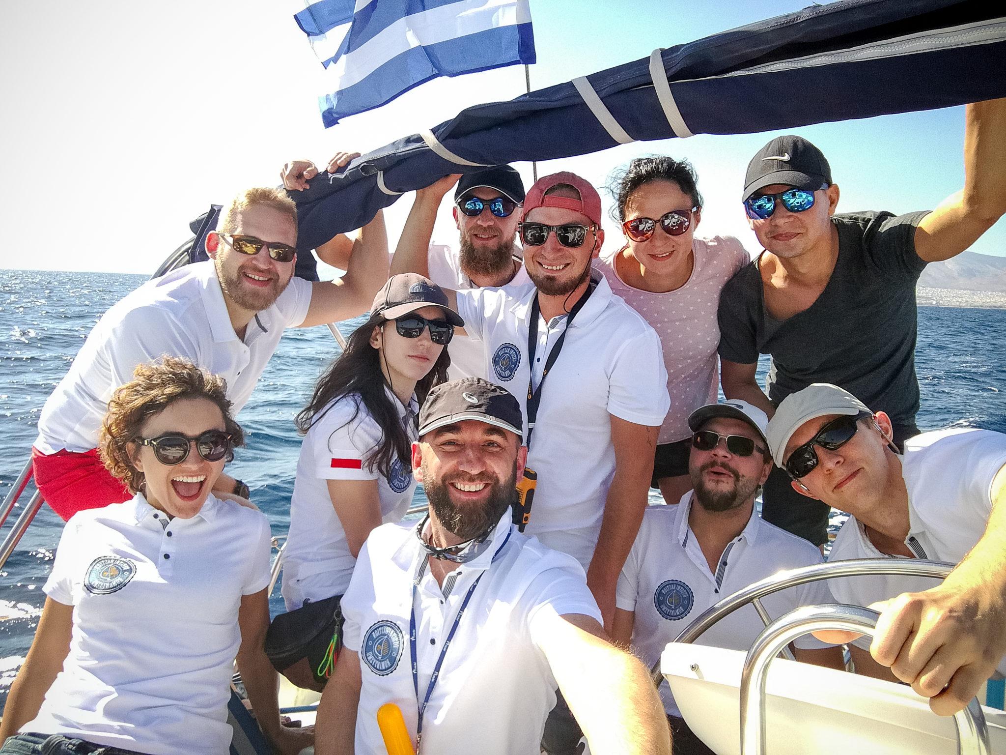 Załoga s/y Alexandra na trasie Ateny - Egina